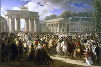 Napoleon enters Berlin