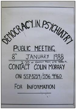 Democracy in Psychiatry poster 1.1.1988